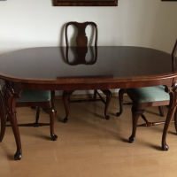 Mahogany dining table +four chairs
